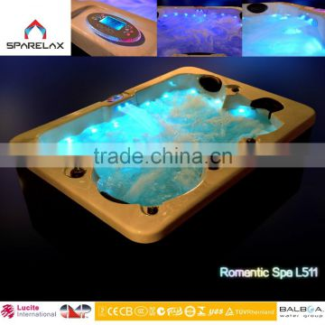 competitive price acrylic massage hot spa tub with CE approved massage bathtub for 4 people