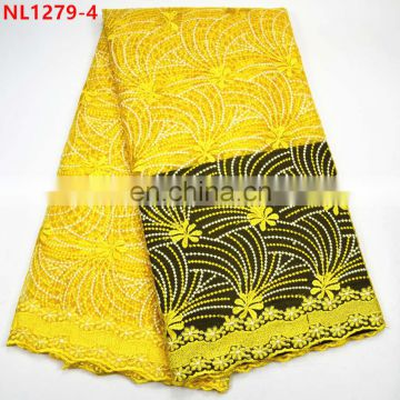 Fashion african french lace fabric/tulle net lace for party dress