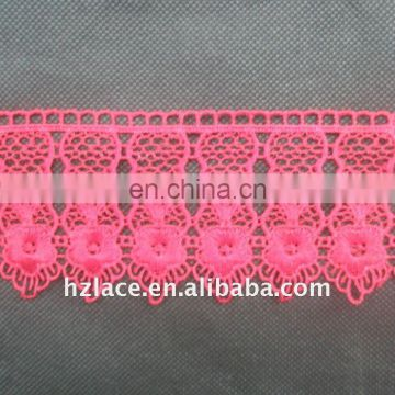 Red water soluble lace for wedding