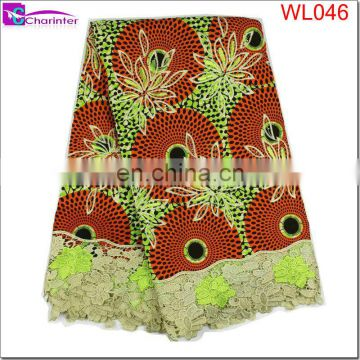 wax hollandais nigeria wax print fabric gold african lace wax lace WL041