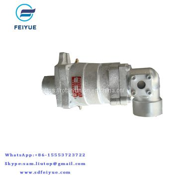 Hot oil steam rotary joint with double spherical sealed High temperature steam rotary union for dryer machine