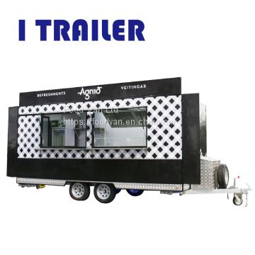 Mobile kitchen food van travel trailer for sale