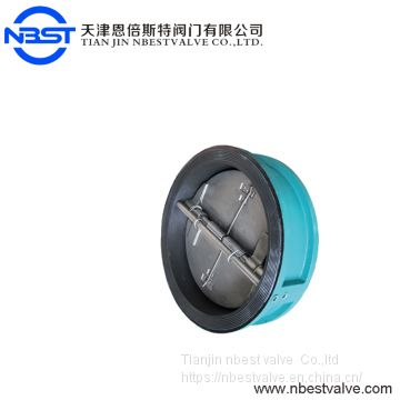 H77XP-10Q DN300 Dual Iron Wafer Butterfly Check Valve