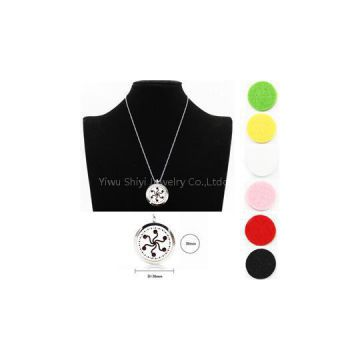 Aromatherapy Essential Oil Diffuser Necklace Locket Perfume Pendant Necklace With 6 Colors Plet