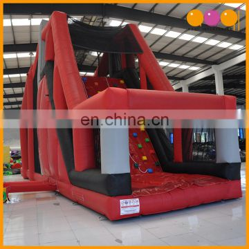 PVC giant jumping bouncer inflatable stunt jump platform for kids