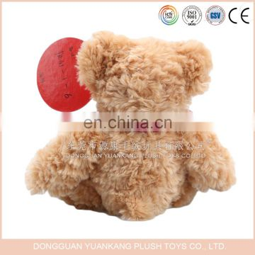 EN71 standard Promotional brown color cute plush teddy bear toy