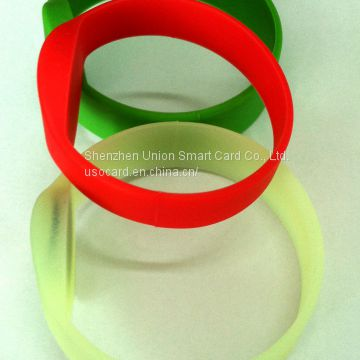 Gorgeous Waterproof Low Price RFID Silicone Wristband 13.56MHz