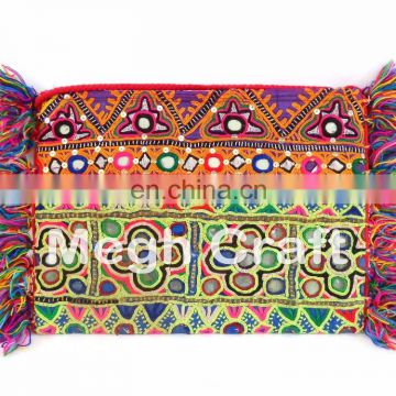 Handmade Ethnic Vintage Banjara Clutch - Kutch Patchwork Cotton Clutch- Tribal Vintage Patchwork Cotton wallet