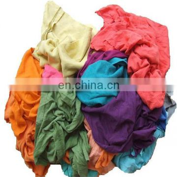 2016 mixed color wiping rags hot selling recycled rags cut wiping rag