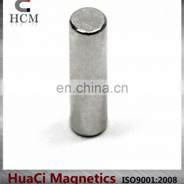 "n52 neodymium magnets Neodymium Cylindrical Magnet Grade N45 Dia 1/8x1/2"" large rare earth magnets for sale"