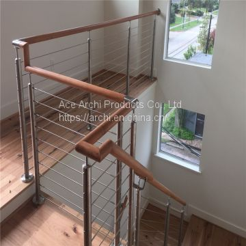 Cheap Price Deck Balustrade Balcony Stainless Steel Cable Railing