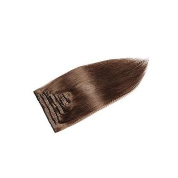 Grade 6A Brown Synthetic Hair Extensions 24 Inch No Damage Bouncy And Soft