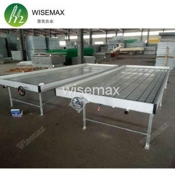Rolling wire greenhouse bench grow tray ebb and flow hydroponic systems