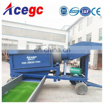 Mobile Gold trommel separating machine for sale