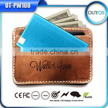 Promotional Credit Card Powerbank Cheap Built-in Cable Power Bank