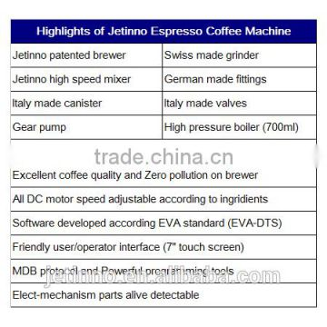 2xES7C foot standing touch screen bean to cup commercial espresso coffee vending machine                                                                         Quality Choice