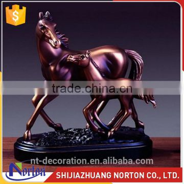 Large wild bronze mother and cub horse sculpture NTBA-001LI