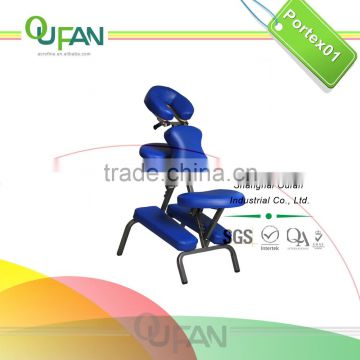 Oufan metal frame massage chair Portex01 with adjustable headrest, chest pad, seat pad, knee pad, armrest