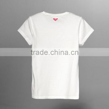 cheap white tshirt china factory price ladies tshirt