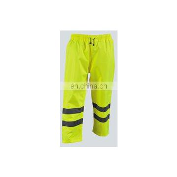 Rain Pants in fluo-yellow color,water-proof and wind breathable