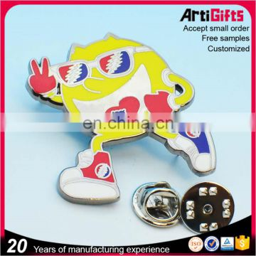 Artigifts High quality metal glasses lapel pin