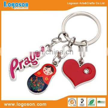 Custom soft enamel metal keychain,horse shaped key chain