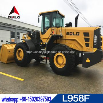 5 ton SDLG L958F wheel loader with lowest price for sale