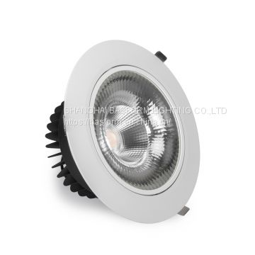 factory direct sale 50w 60w 70w 85w 250mm diameter cob led ceiling spot recessed downlight