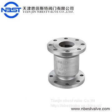 DN15 150CLASS Flanged Stainless Steel Vertical Spring Swing Check valve