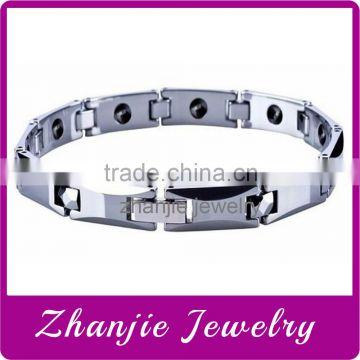 New Design Scalar Energy Products Stainless Steel 4 In 1 Bio Magnetic Tungsten Chiains Bracelet Health Bracelet for Men