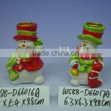 Wholesale Dolomite Snowman Candle Holder