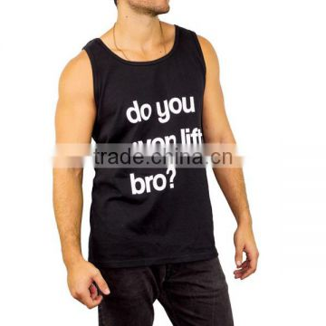 100 Cotton Men Tank Top With Print