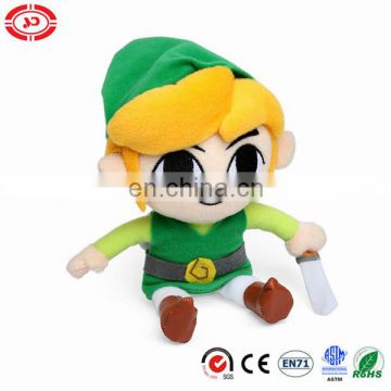 The legend of zelda plush toy with sword cute soilder doll