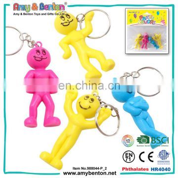 Promotional items plastic smile man shape keychain for 2016