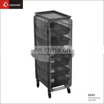cheap price simple salon furniture useful hair trolley for sale