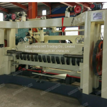 Wood veneer spindle rotary peeling machine