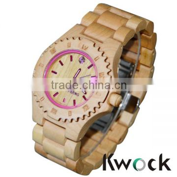 2016 eco-friendly natural material vogue watch,luxury watch, Men's bamboo wooden watch