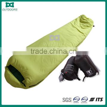 Low price padded cotton sleeping bag for camping