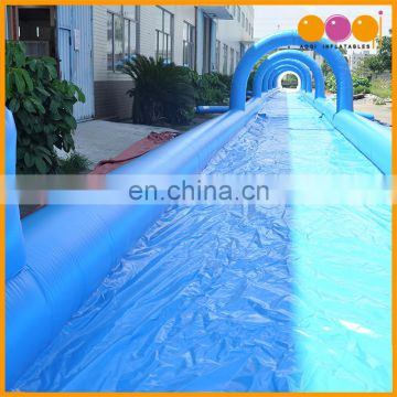 AOQI water park blue and white inflatable slip n slide, inflatable water slide