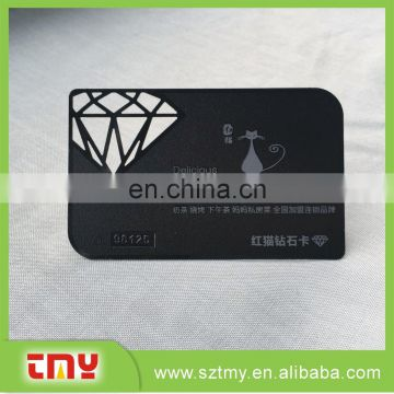 Over 15 years make metal card factory supplier black business card / laser cut good quilty metal business card