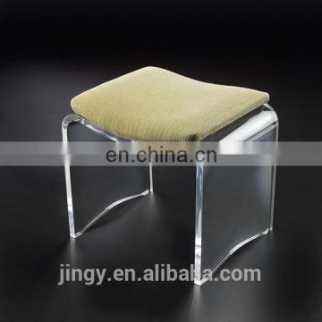 jingyue hot sale transparent high quality kids lucite vanity stool