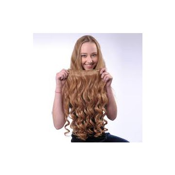 Blonde Chocolate Deep Wave Synthetic Hair Extensions 16 18 20 Inch Natural Black