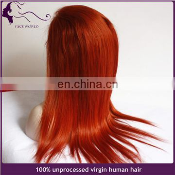 Wholesale 100% Human Hair Wig Red Cosplay Lace Front Wig For Woman