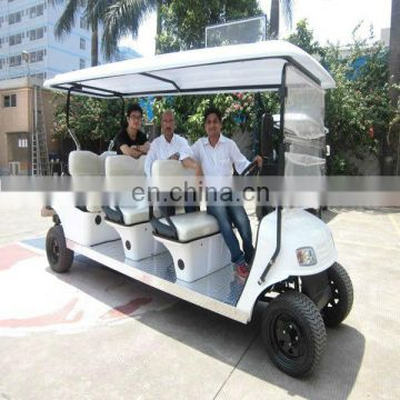 High performance electric tourist vehicle 8 seater golf cart with powerful motor of 5KW/48V|AX-B9+3