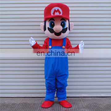 classical game mascot of the super marie mascot costume