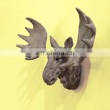 art collectible resin animal head skeleton wall decor