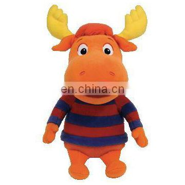plush stuffed toy cow wear cloth suit for baby B 3297