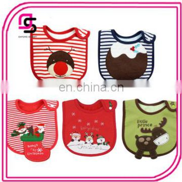 2017 new fashion christmas baby cotton bibs latest cartoon baby bandana bibs