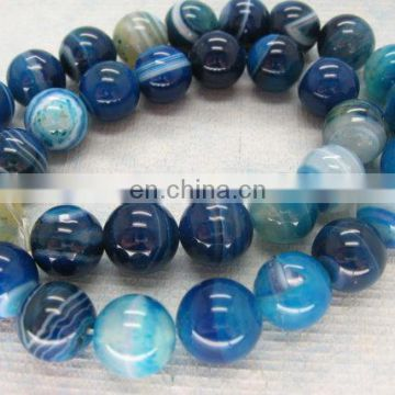 2015 Wholesale gemstone round beads/Blue lace agate 12mm