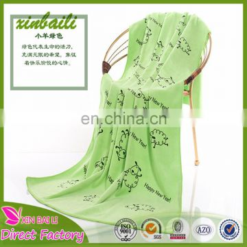 Wholesale Custom Printed 80 Polyester 20 Polyamide Microfiber Bath Towel